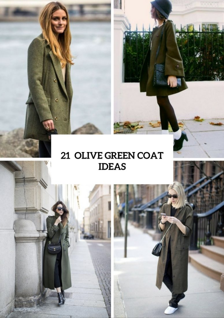 Charming Olive Green Coat Ideas For This Fall