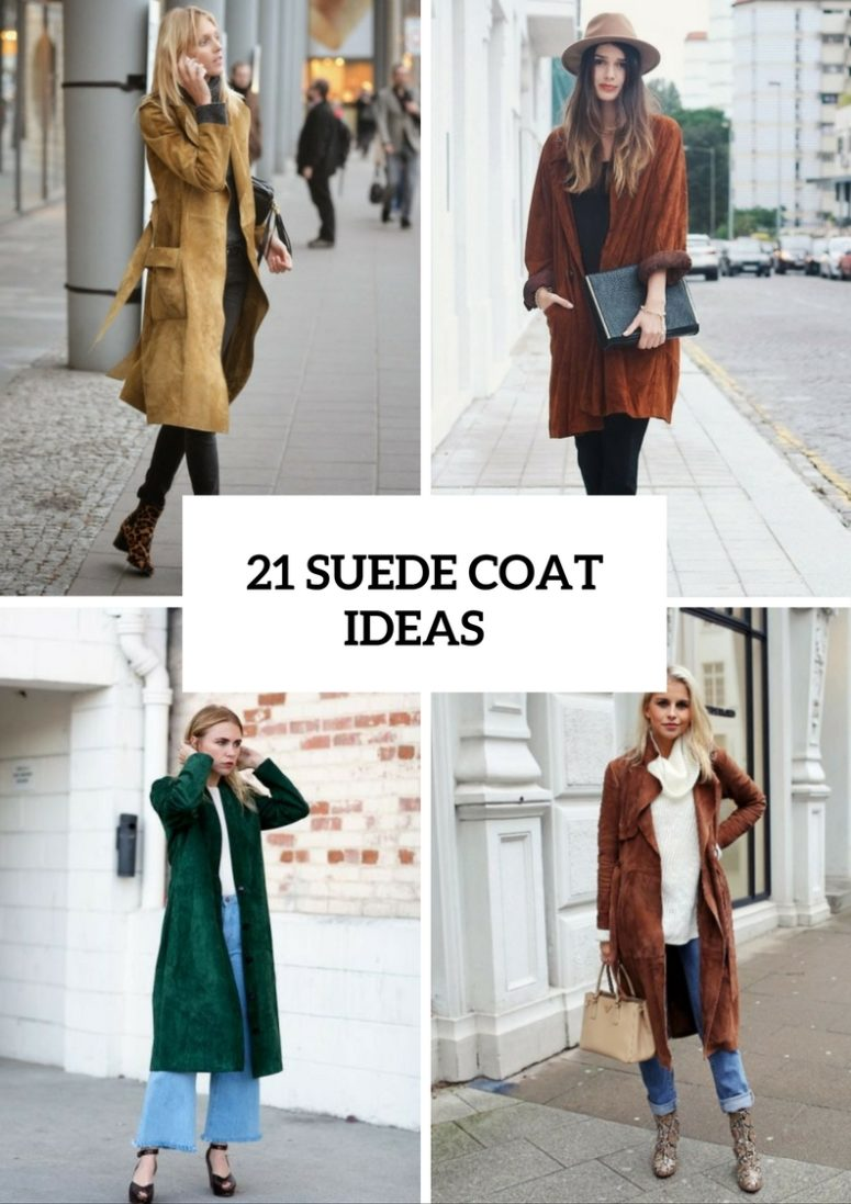21 Cozy Suede Coat Ideas For This Season