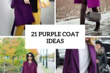 21 Eye-Catching Purple Coat Ideas For This Fall