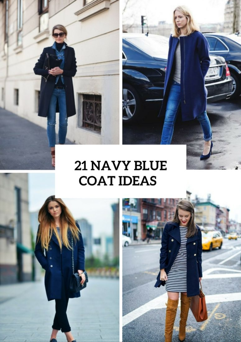 Fabulous Navy Blue Coat Ideas To Try