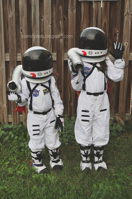 astronaut costumes with candy collecting jetpacks have a strong wow factor
