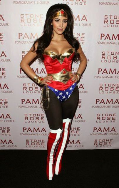 sexy Wonder Woman costume by Kim Kardashian