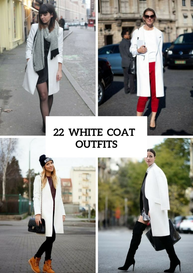 22 Awesome Ideas To Wear White Coats - Styleoholic