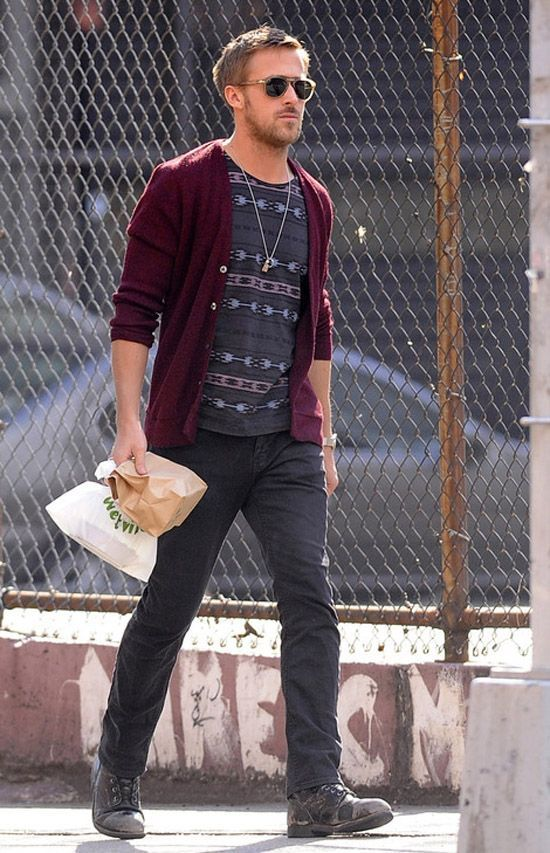 a burgundy cardigan is a truly fall item to rock