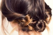 22 a twisted updo is off the neck and you can rock a comfy scarf