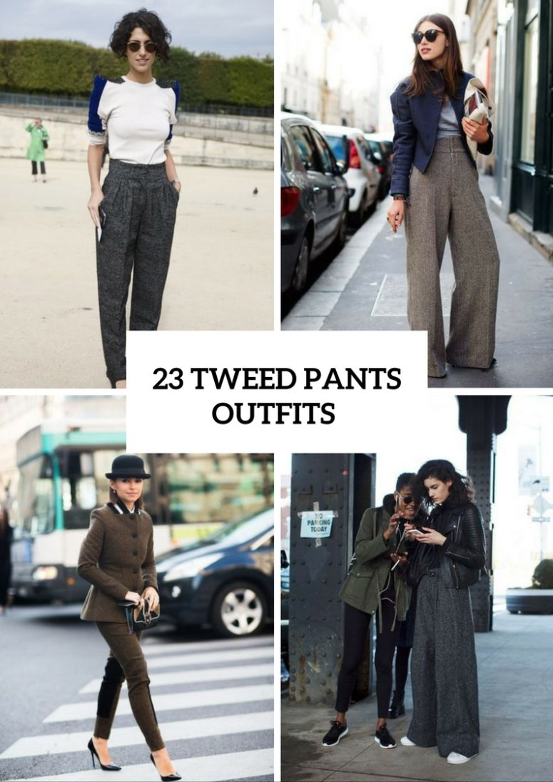 23 Elegant Tweed Pants Outfits For Girls