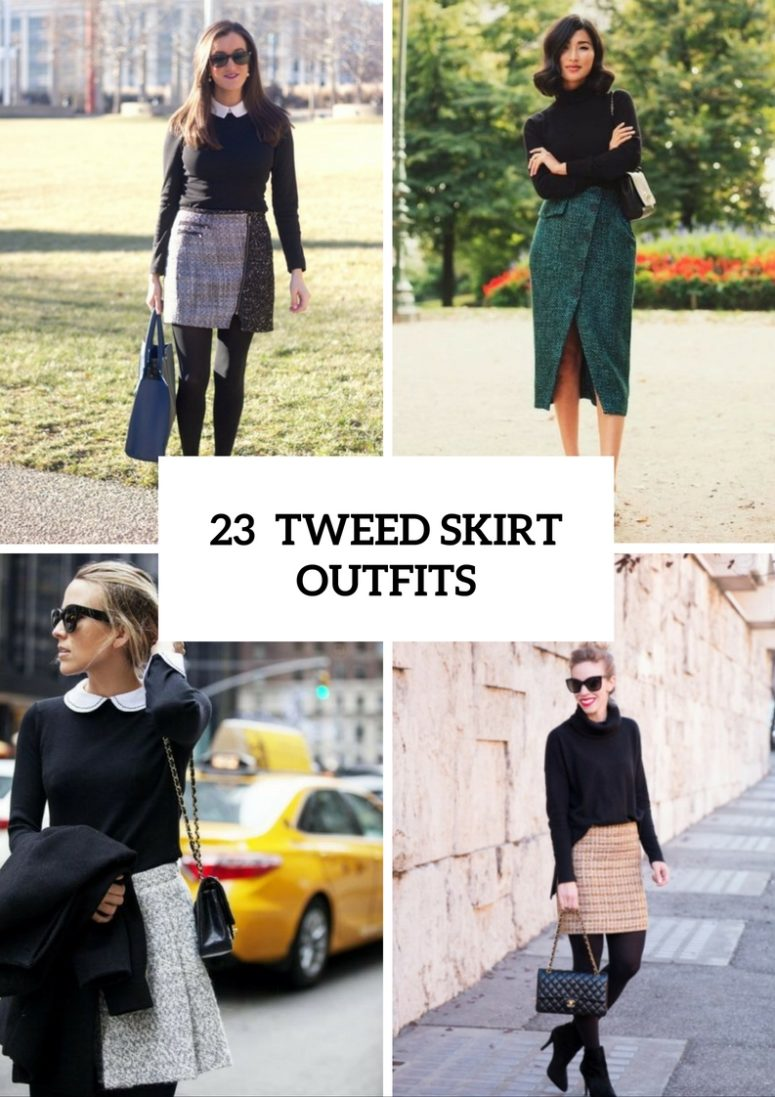 23 Excellent Tweed Skirt Ideas For This Fall