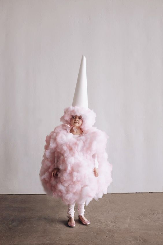 pink cotton candy costume for kids