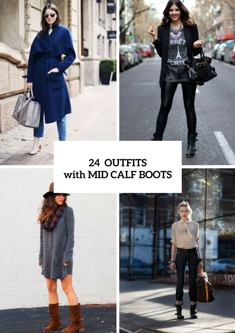 Picture Of Fall Outfit Ideas With Mid Calf Boots