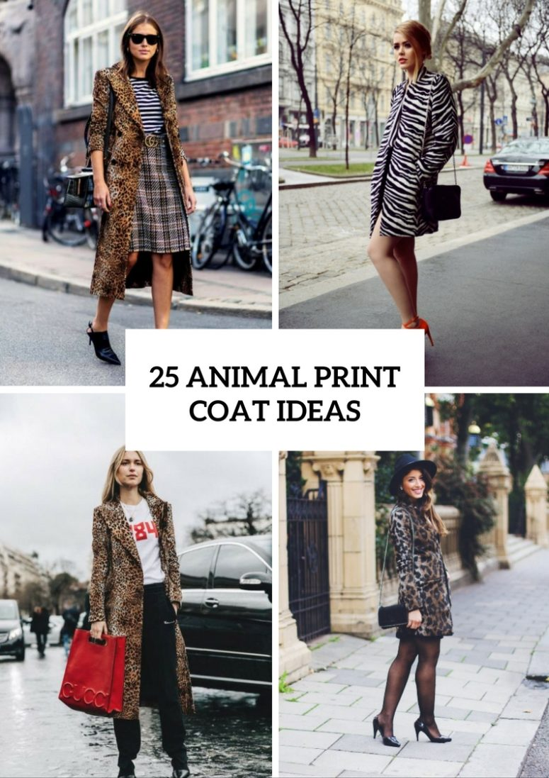 25 Animal Print Coat Outfits For Fall And Winter