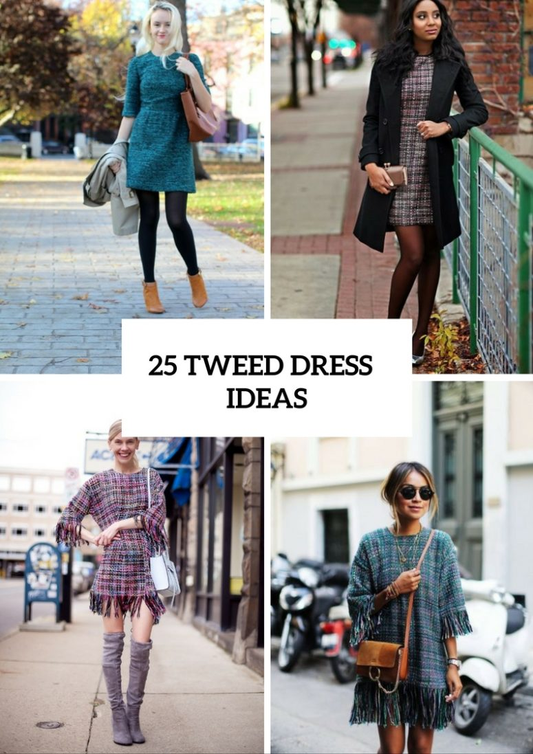 25 Stylish Ideas To Wear Tweed Dresses