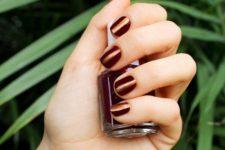 26 dark copper manicure