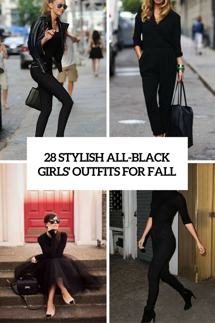 28 Stylish All-Black Girls' Outfits For Fall