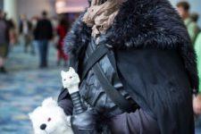 29 Jon Snow with his white wolf