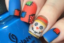 30 scarecrow matte nails for Thanksgiving and fall