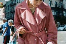Light pink belted coat
