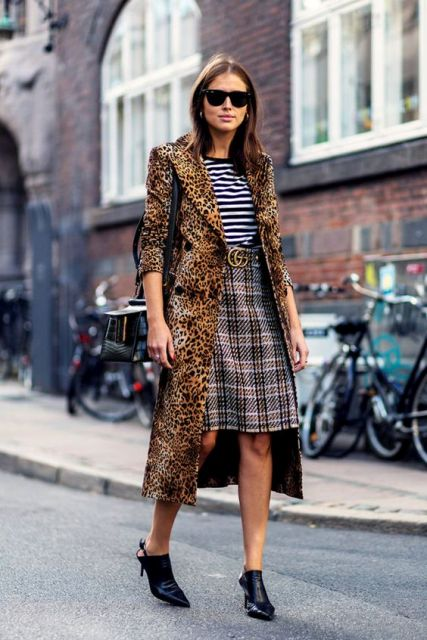 25 Animal Print Coat Outfits For Fall And Winter Styleoholic