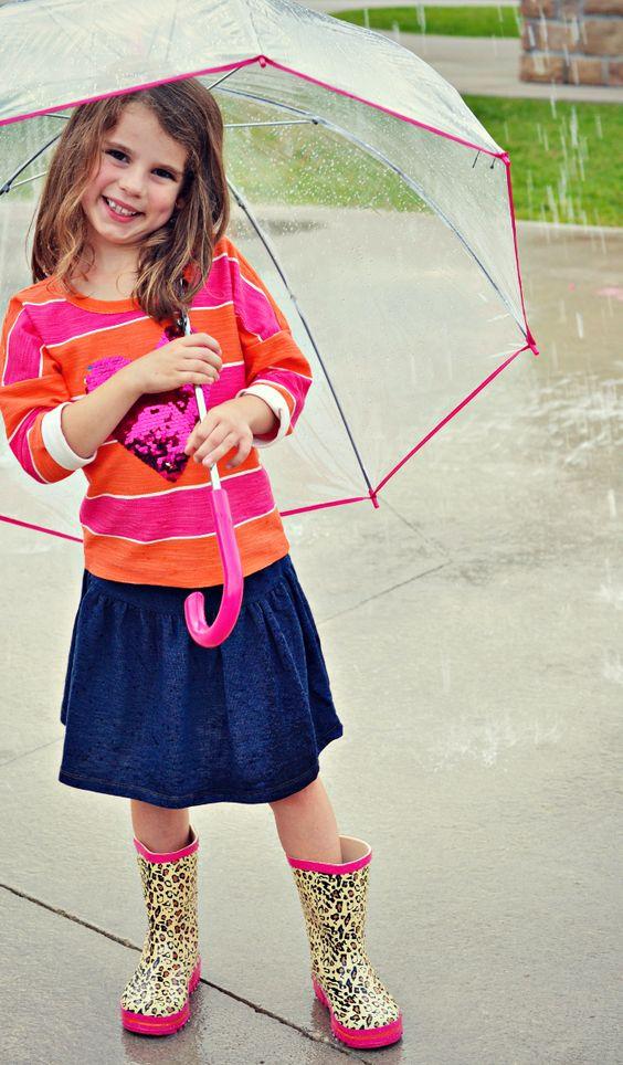 girl in rain boots