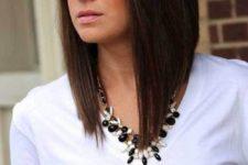 02 asymmetrical bob hairstyle in dark brown