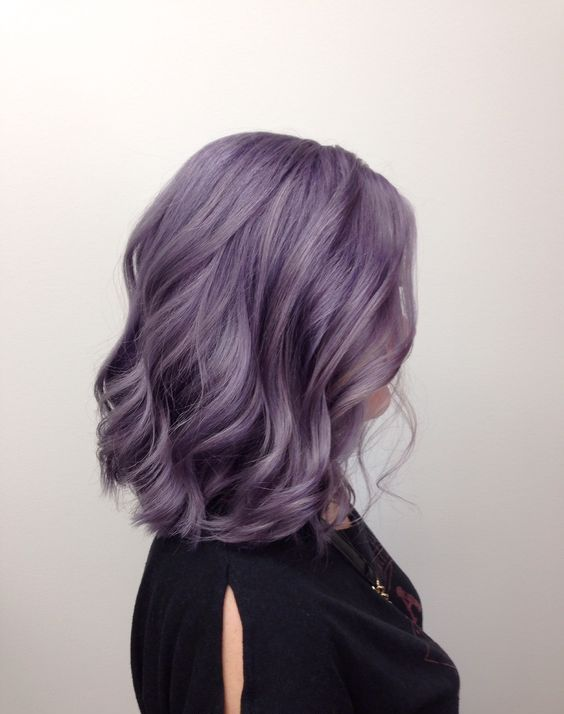 beautiful lavender shoulder-length hair