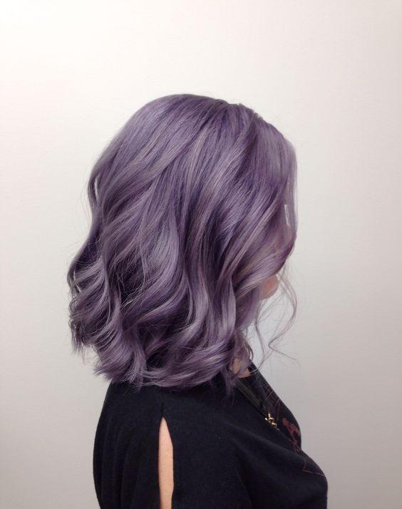 beautiful lavender shoulder-length hair