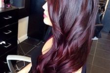 02 bold black cherry hair looks cool both on long and short hair