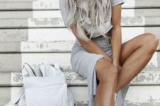 02 grey outfit and matching long hair