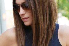03 brunette long bob looks very voluminous