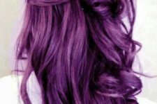 03 curly bold purple hair