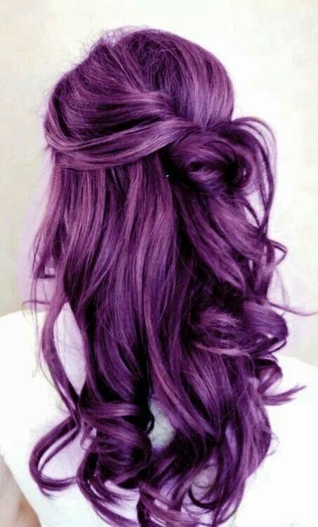 curly bold purple hair