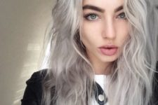 03 silver hair color is amazing for girls with light eye color and light complexion