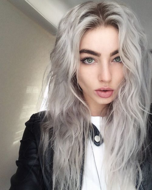silver hair color is amazing for girls with light eye color and light complexion