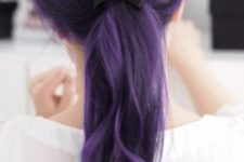 04 dark lavender hair color with black lowlights