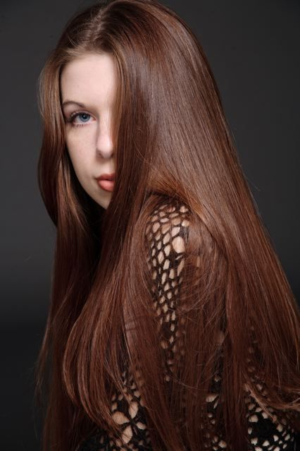 long straight chestnut hair for those who want just a hint of red