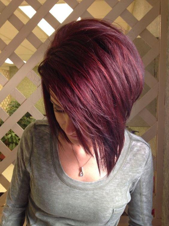 short cherry hair