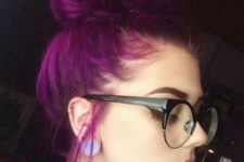 05 bold purple hair looks eye-catching and always makes a statement