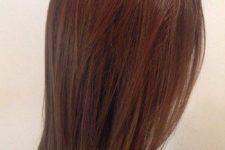 05 medium length straight chestnut hair