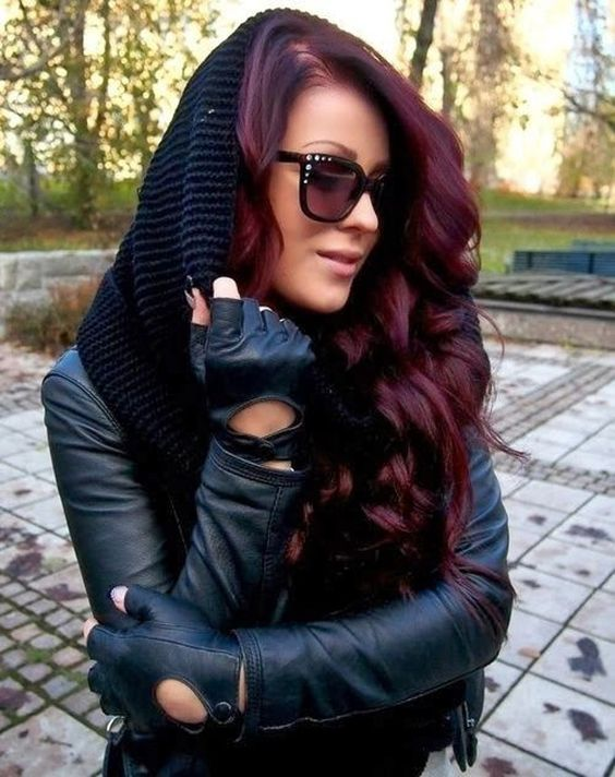 classic black cherry hair to embrace for the fall and winter