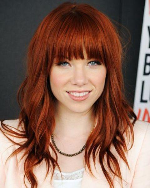dark reddish copper hair