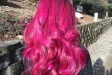 08 bold wavy magenta hair