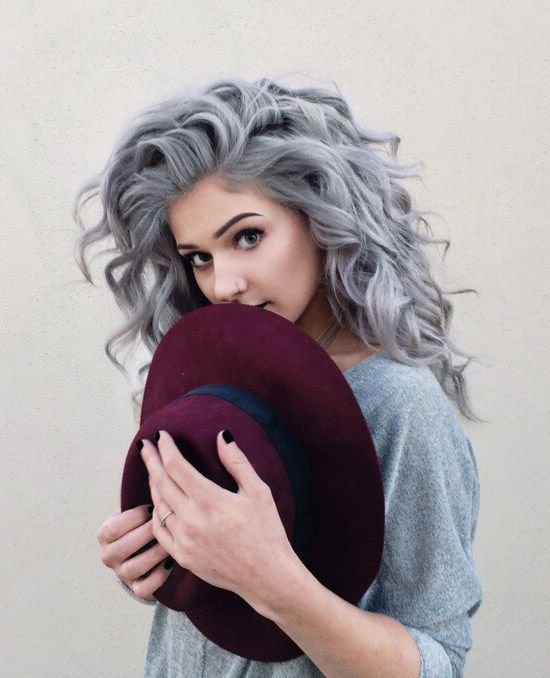 silver hair can look very soft and tender