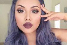 09 dark lavender shade hair