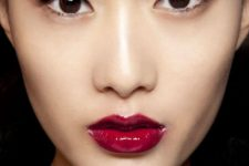 09 deep berry lips are a great alternative to red for an evening look