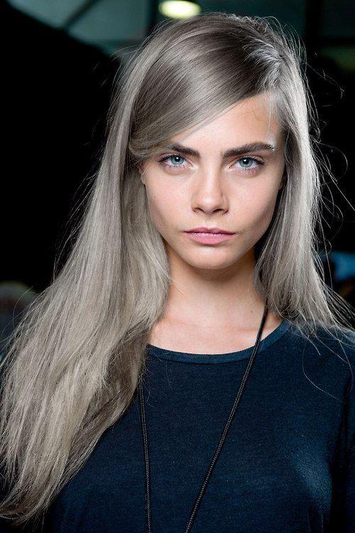 intense silver blonde hair
