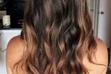 10 beautiful chestnut and caramel balayage for dark hair