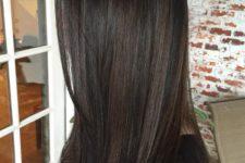 10 black hair with chestnut highlights