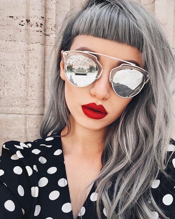 classic light grey hair