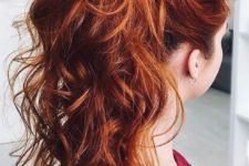 10 fiery copper hair with lowlights