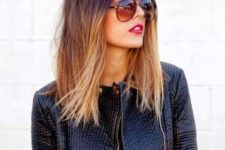 10 long bob ombre hair from brown to almost blonde