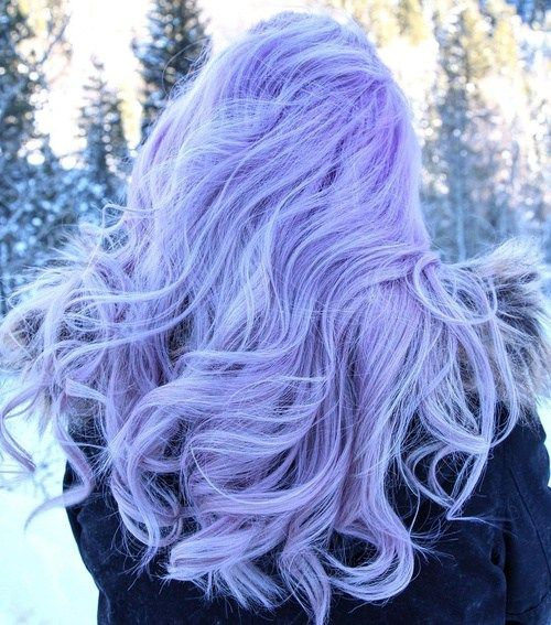 picture of pastel purple hair to feel an ice queen